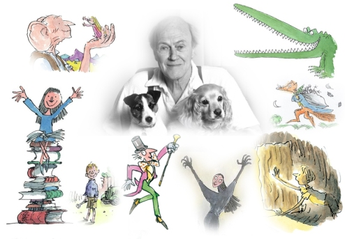 Image result for roald dahl montage